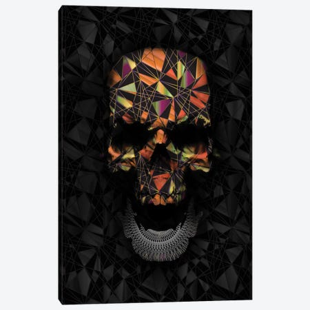 Colorful Geometric Skull Canvas Print #NID172} by Nicebleed Canvas Print