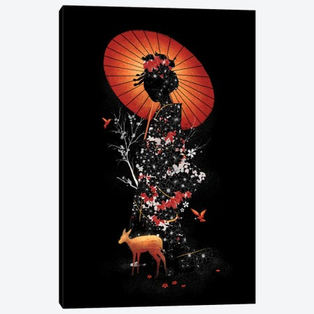 Geisha Nature Canvas Print #NID174} by Nicebleed Canvas Wall Art