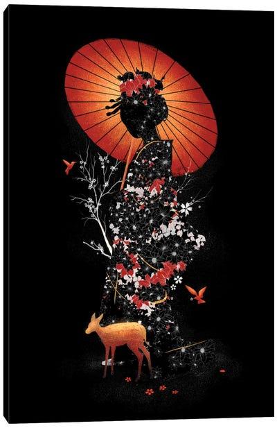 Geisha Nature Canvas Print #NID174