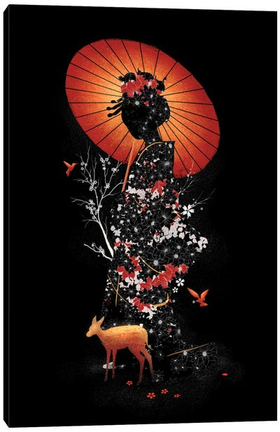 Geisha Nature Canvas Art Print
