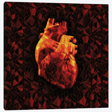 Geometric Heart Canvas Print #NID175} by Nicebleed Canvas Artwork