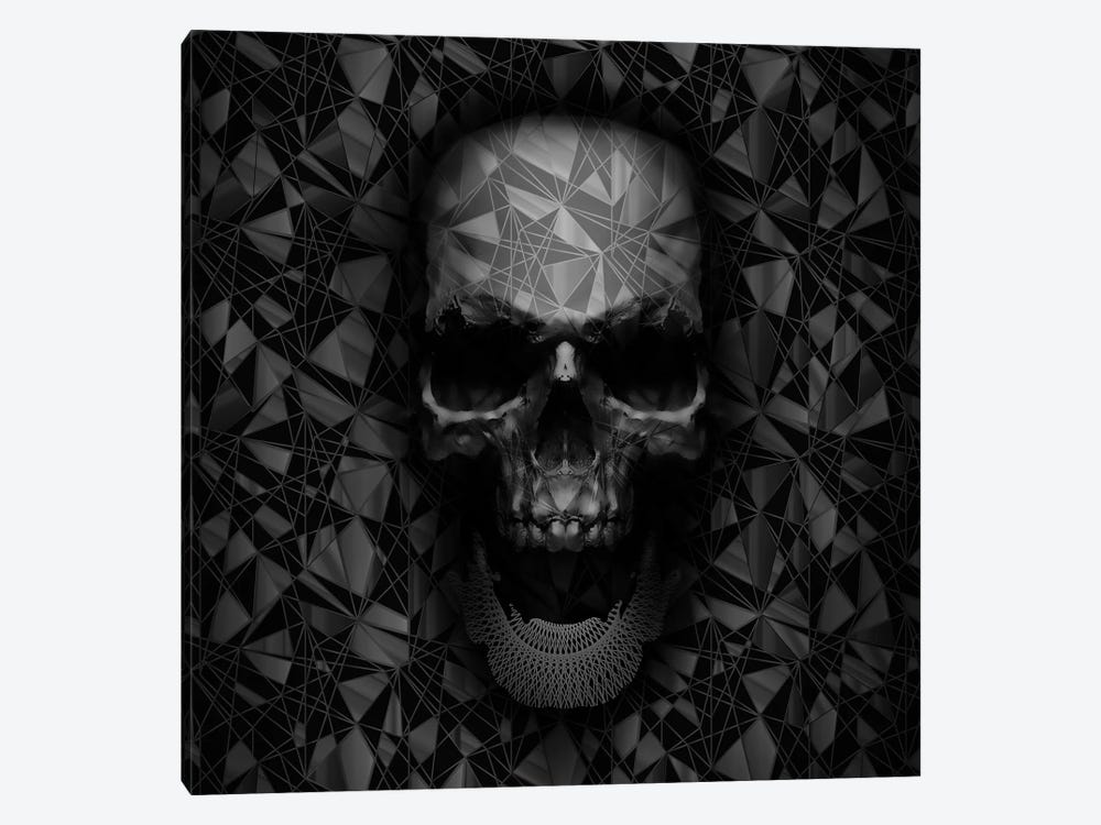 Geometric Skull 1-piece Canvas Art