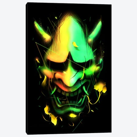 Hannya Mask Canvas Print #NID178} by Nicebleed Art Print