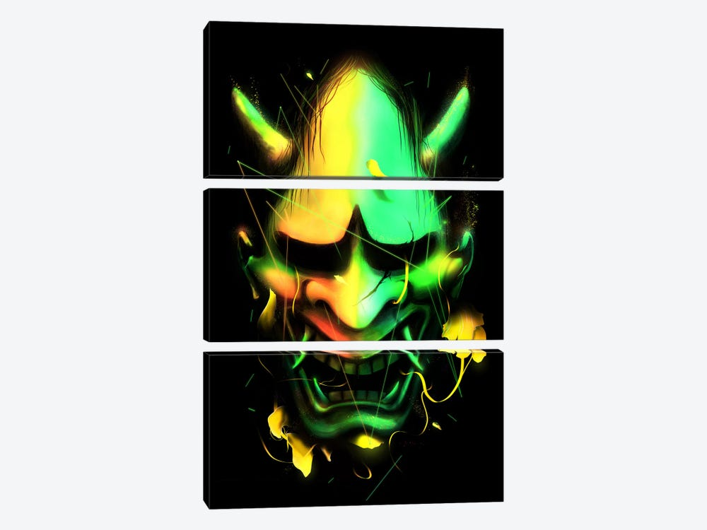 Hannya Mask by Nicebleed 3-piece Canvas Art