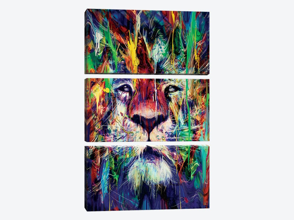 Lion by Nicebleed 3-piece Canvas Print