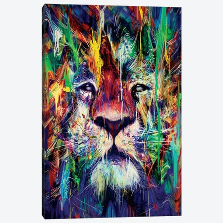 Lion I Canvas Print #NID180} by Nicebleed Canvas Artwork