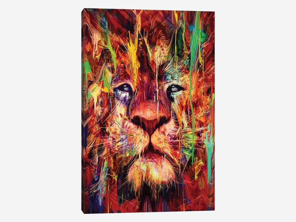 Lion Red by Nicebleed 1-piece Canvas Wall Art
