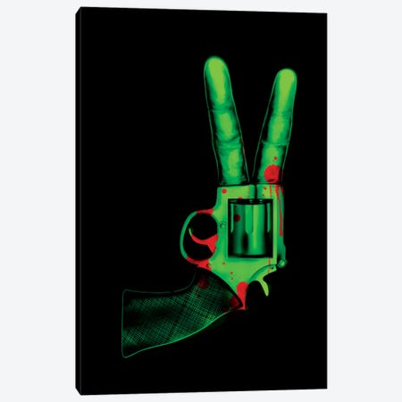 Peace Bang Canvas Print #NID183} by Nicebleed Canvas Art