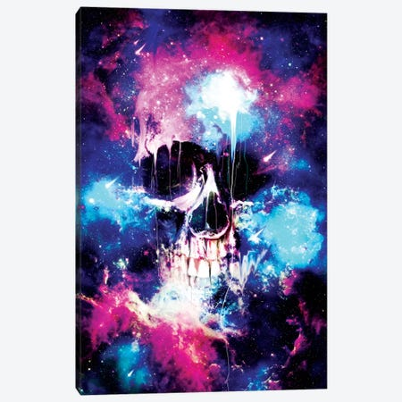 Space Skull Canvas Print #NID186} by Nicebleed Canvas Art Print