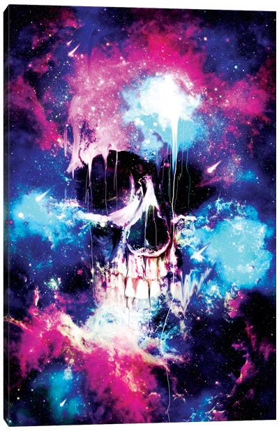 Space Skull Canvas Art Print