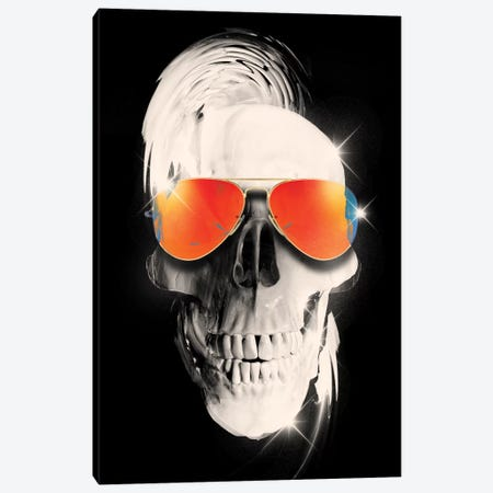 Summer Skull Canvas Print #NID187} by Nicebleed Art Print