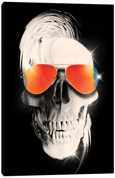 Summer Skull Canvas Art Print