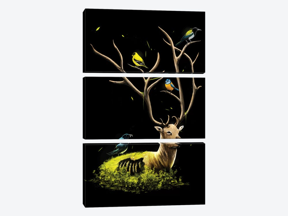 The Gathering by Nicebleed 3-piece Canvas Print