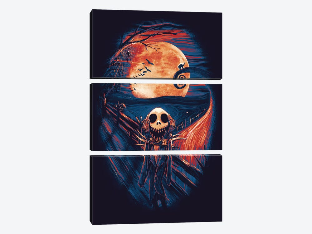 The Scream Before Christmas 3-piece Canvas Art