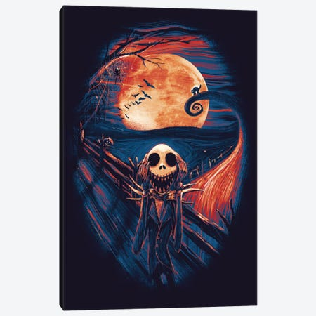 The Scream Before Christmas Canvas Print #NID189} by Nicebleed Canvas Art