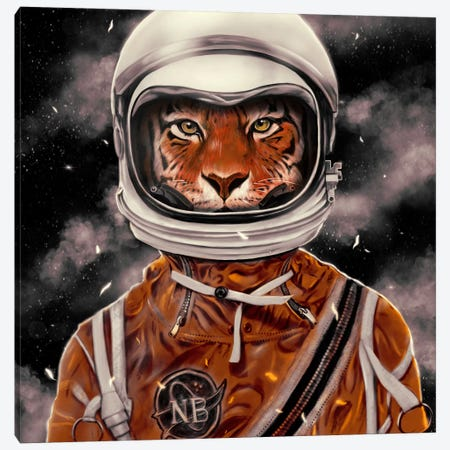 Astro Tiger Canvas Print #NID193} by Nicebleed Canvas Print
