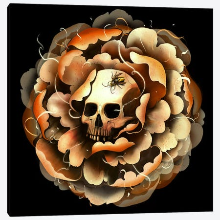 Death Blooms Canvas Print #NID197} by Nicebleed Canvas Wall Art