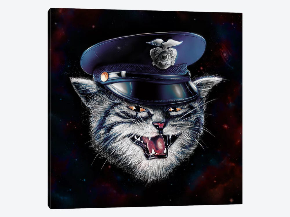 Police Cat by Nicebleed 1-piece Canvas Art Print
