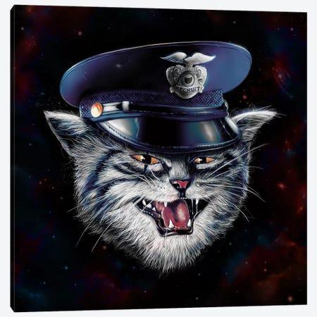 Police Cat Canvas Print #NID211} by Nicebleed Canvas Art