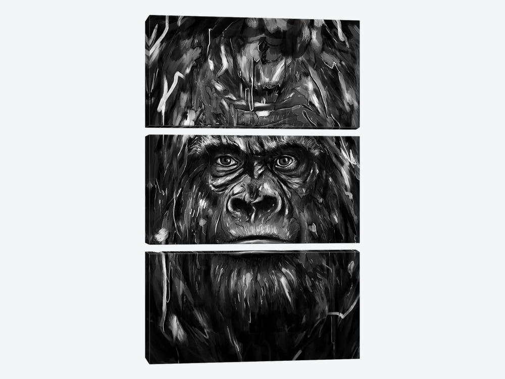 Silverback by Nicebleed 3-piece Canvas Art
