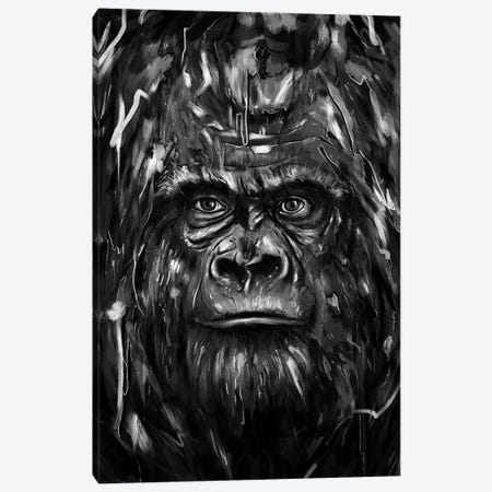 Silverback 3-Piece Canvas #NID214} by Nicebleed Canvas Art Print