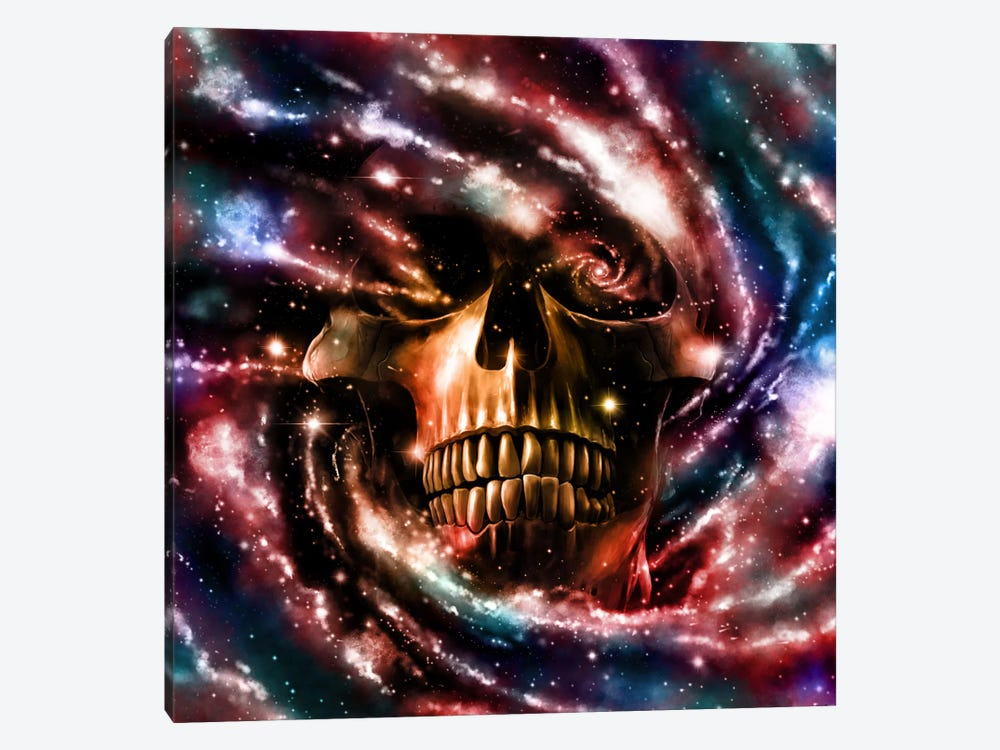 Space Skull II by Nicebleed 1-piece Canvas Print