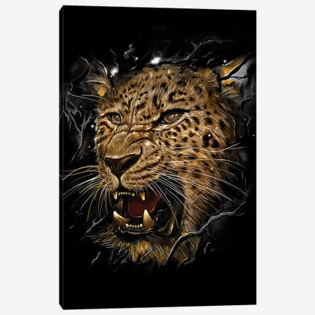Leopard Canvas Print #NID221} by Nicebleed Art Print