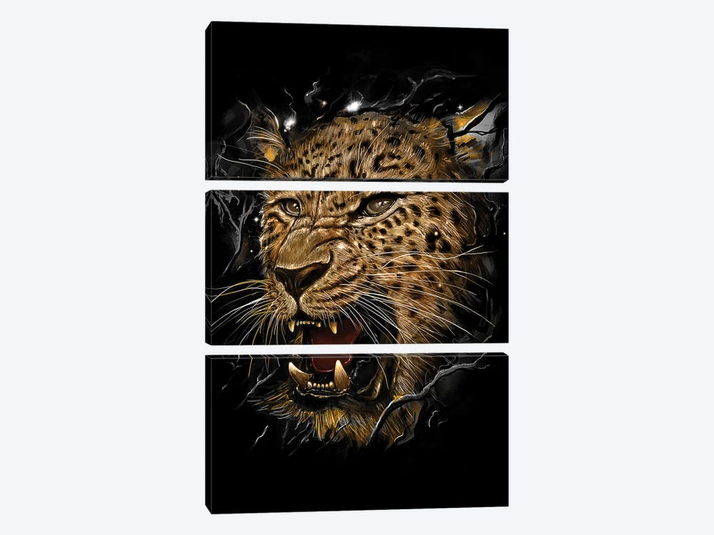 Leopard by Nicebleed 3-piece Canvas Artwork