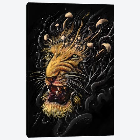 Lion II Canvas Print #NID222} by Nicebleed Canvas Print