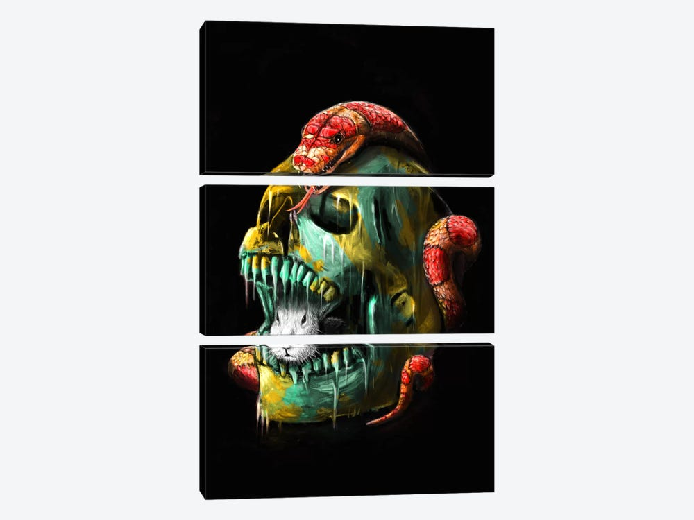 Fear And Desire by Nicebleed 3-piece Canvas Art Print