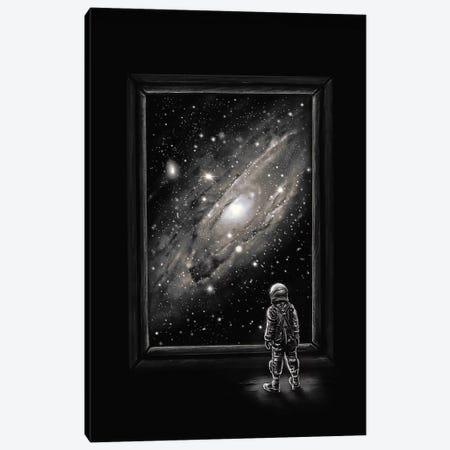 Looking Through A Masterpiece Canvas Print #NID230} by Nicebleed Canvas Artwork
