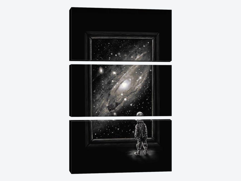 Looking Through A Masterpiece by Nicebleed 3-piece Canvas Artwork