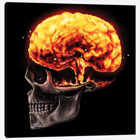 Mind Blown Canvas Print #NID232} by Nicebleed Canvas Artwork