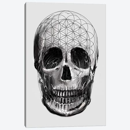 Sacred Skull Canvas Print #NID234} by Nicebleed Canvas Print