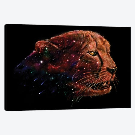 Space Cheetah Canvas Print #NID235} by Nicebleed Art Print
