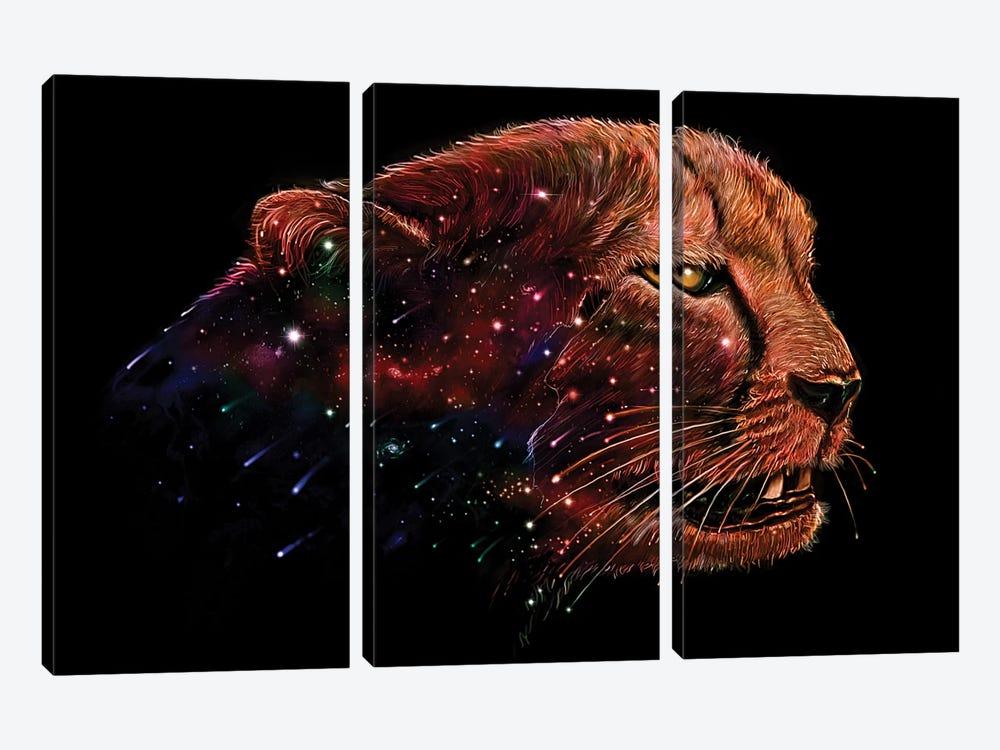 Space Cheetah by Nicebleed 3-piece Canvas Print