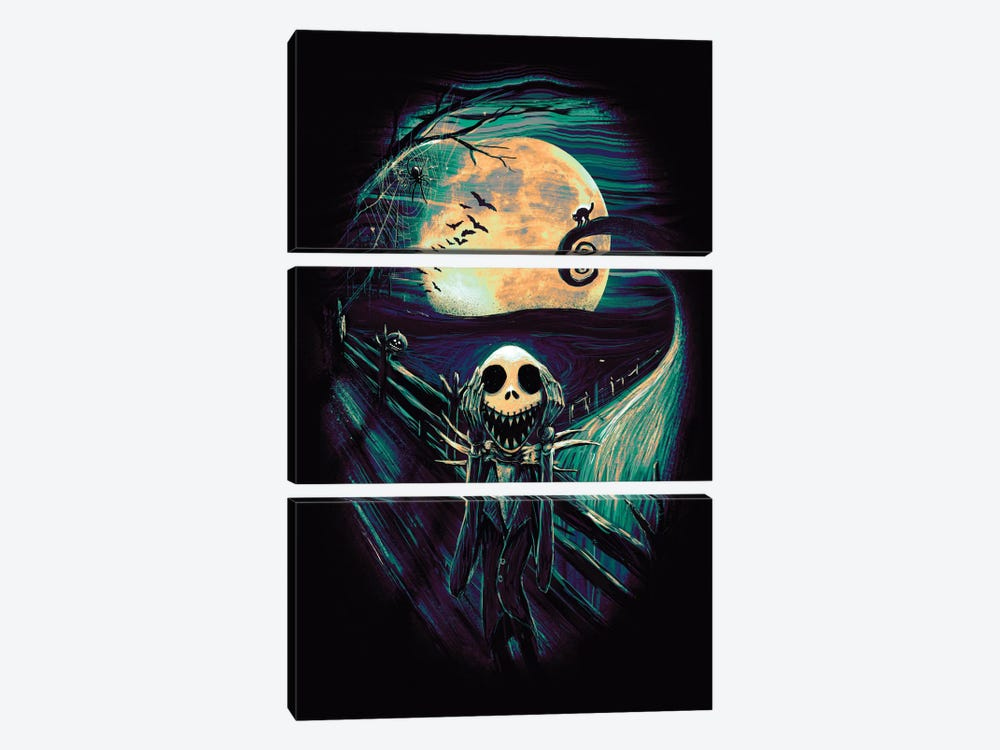 The Scream Before Christmas II by Nicebleed 3-piece Canvas Print