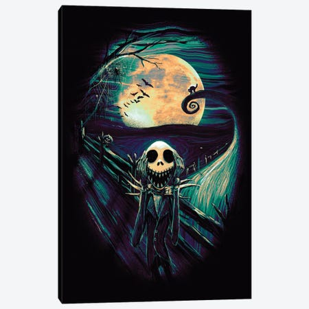 The Scream Before Christmas II Canvas Print #NID237} by Nicebleed Art Print