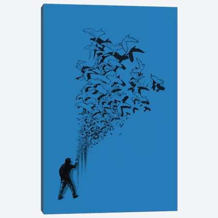 Flying High Canvas Print #NID23} by Nicebleed Canvas Artwork