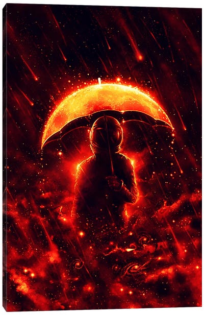 Cosmic Rain Canvas Art Print