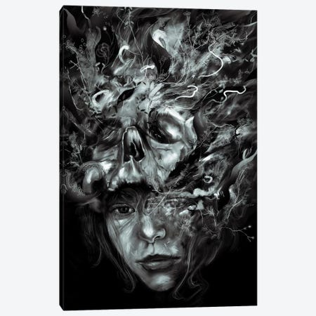 Empress Death Canvas Print #NID247} by Nicebleed Canvas Artwork