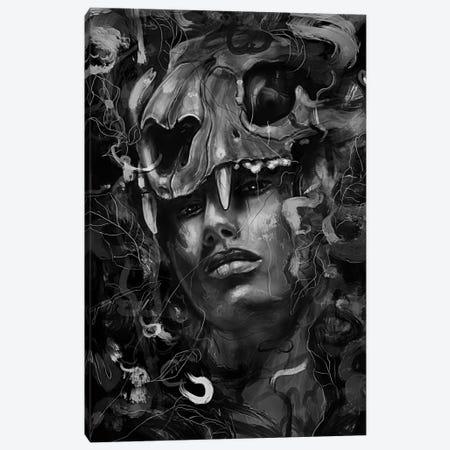 Empress Lion Skull Canvas Print #NID248} by Nicebleed Canvas Print