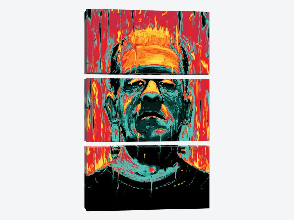 Frankenstein by Nicebleed 3-piece Canvas Art Print
