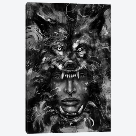 Empress Wolf Canvas Print #NID250} by Nicebleed Canvas Art
