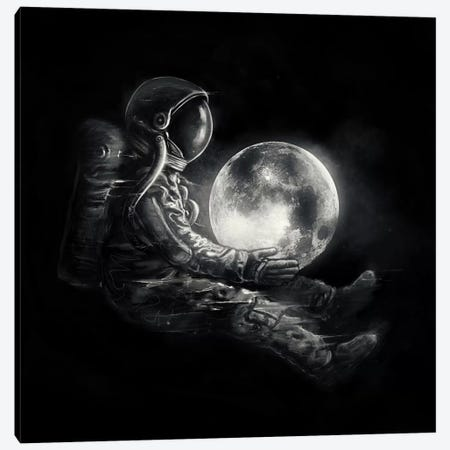 MoonPlay Canvas Print #NID255} by Nicebleed Art Print