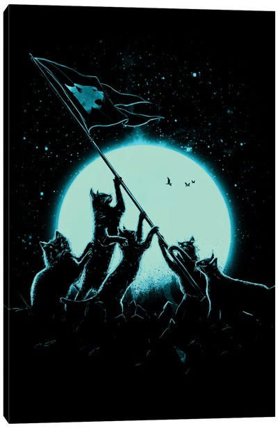 Freedom Cats Canvas Art Print
