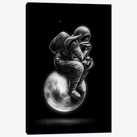 Space Thinker Canvas Print #NID261} by Nicebleed Art Print