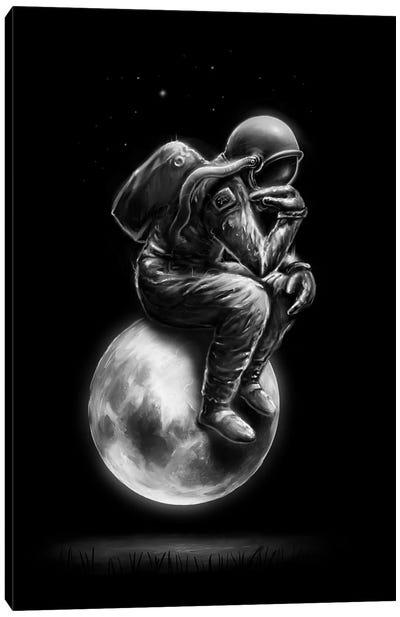 Space Thinker Canvas Art Print
