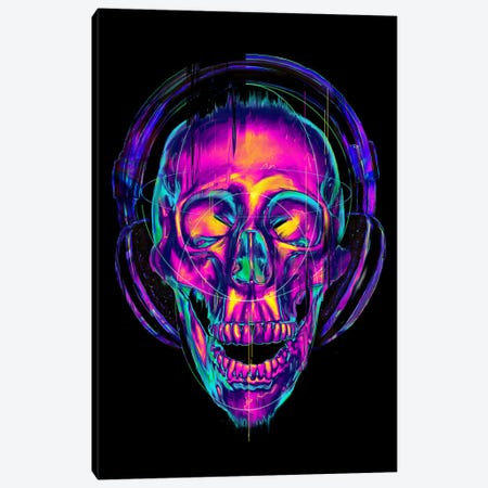 Trippy Skull Canvas Print #NID264} by Nicebleed Canvas Art
