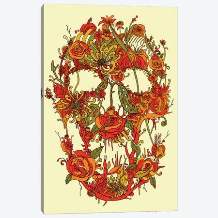 Floral Skull I Canvas Print #NID268} by Nicebleed Art Print